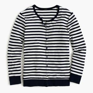 J Crew Perfect-Fit Striped Cardigan NWT!